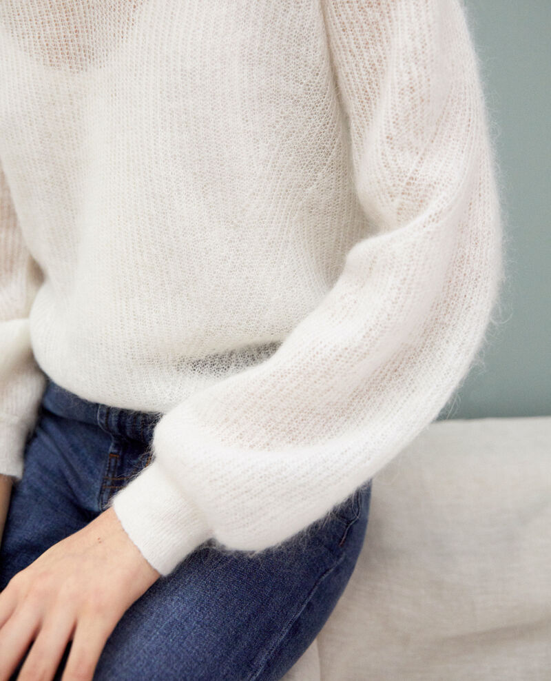 V-neck mohair jumper Off white Iceve