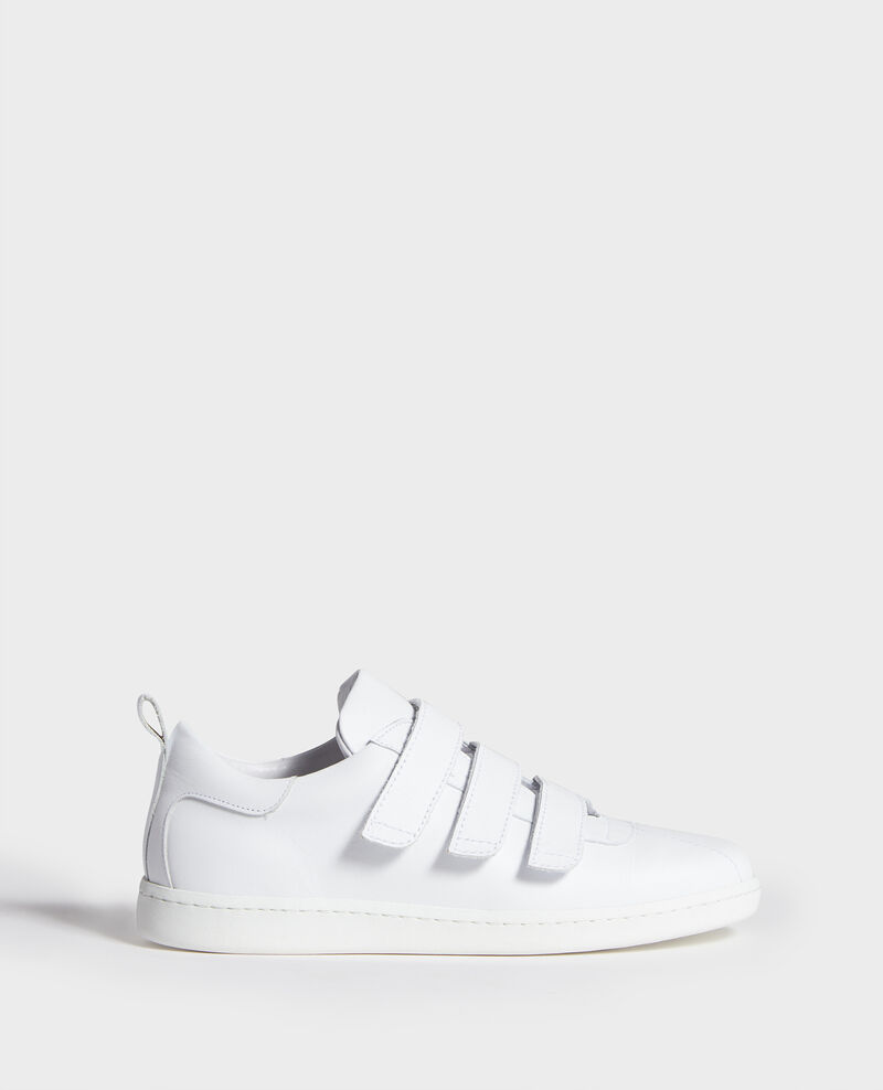 Leather rip tape sneakers Optical white Leader