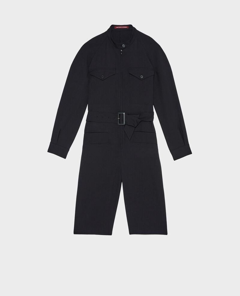 Wool bermuda jumpsuit Black beauty Marbache