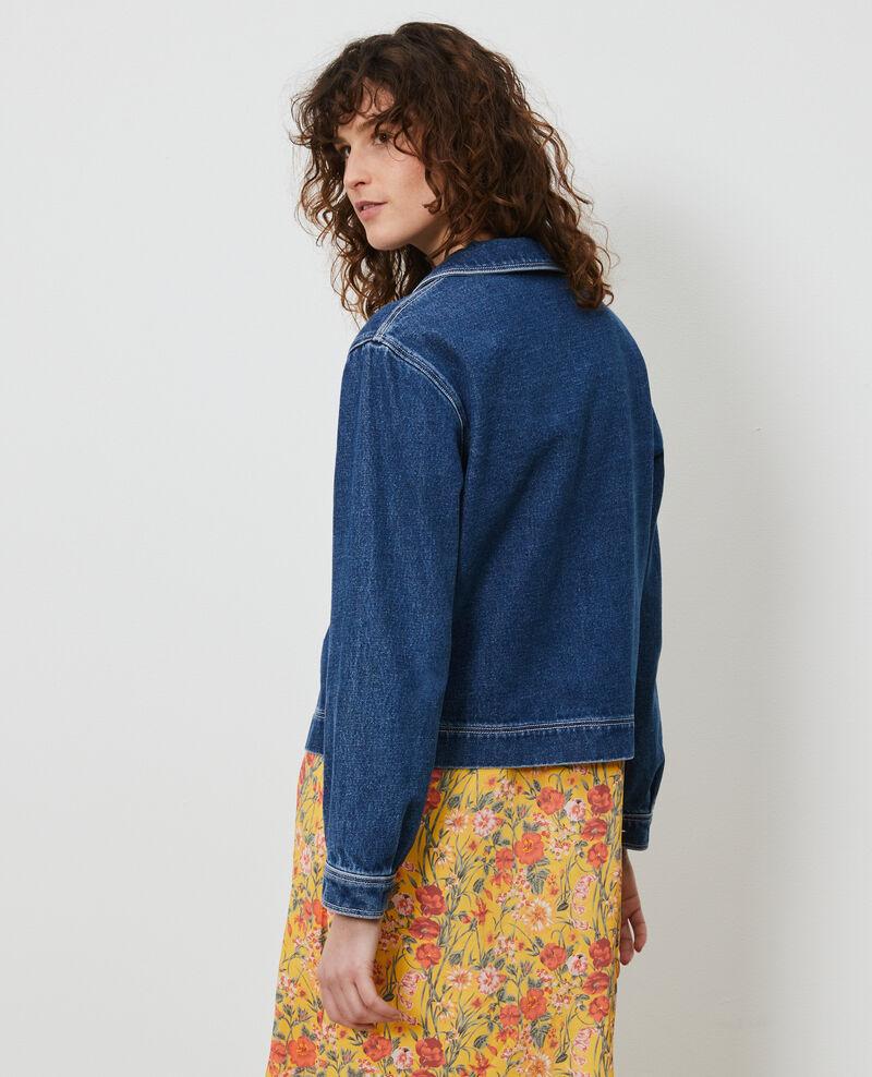 Short denim jacket Denim vintage wash Lalon