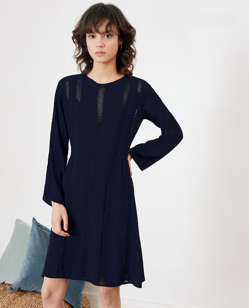 Dress with lace Marine Faise