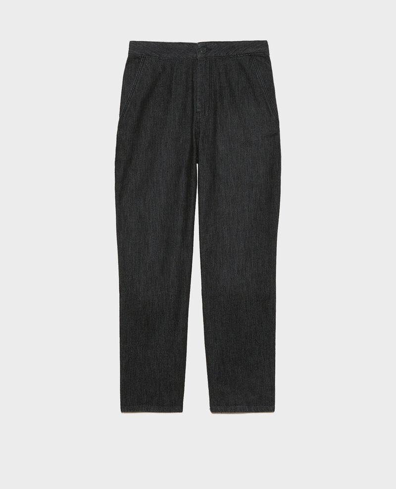 CHINO - High-waisted denim carrot pants Noir denim Mozol