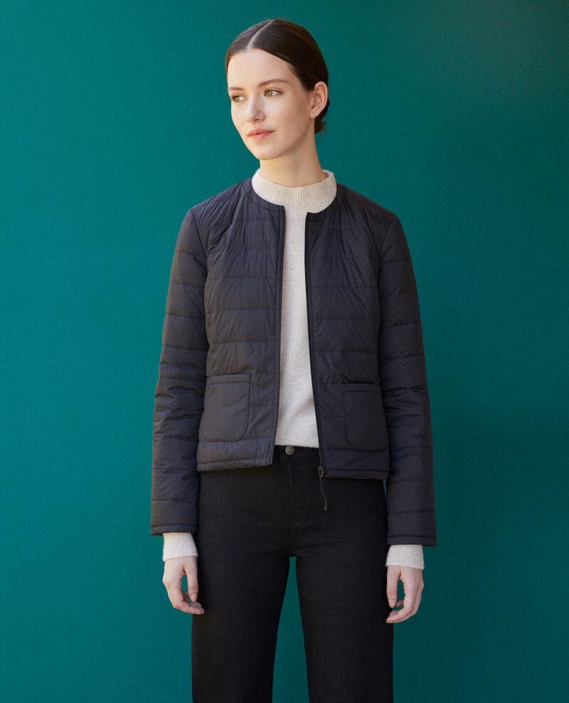 Reversible Mademoiselle Plume jacket Black Gallopo