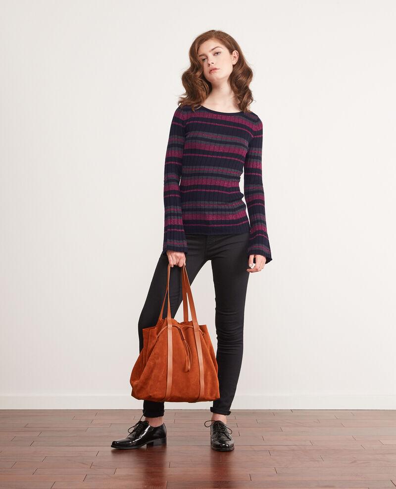 Leather blend shopper Rust Debut