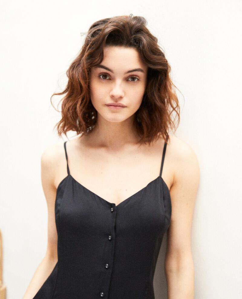 Silk blend dress Noir Ibriella