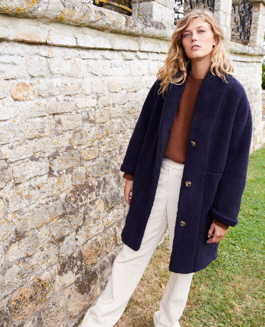 Teddy coat  DARK NAVY