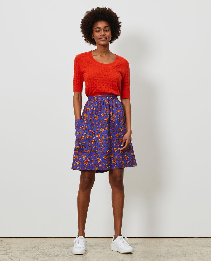 Linen mini skirt Indie-big-blue Nabios