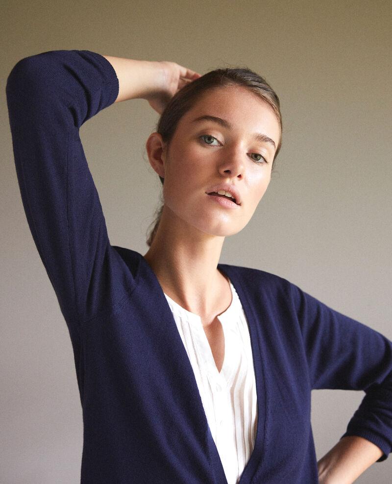 Trompe-l'œil cardigan-blouse Peacoat/off white Gapristi