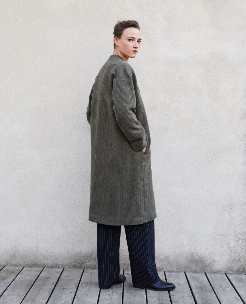 Loose coat Olive night Giovanna