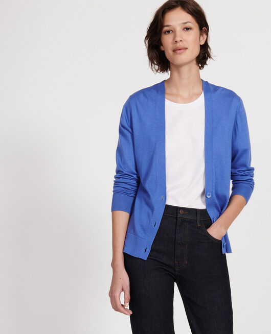 Silk and cashmere  blend cardigan AMPARO BLUE