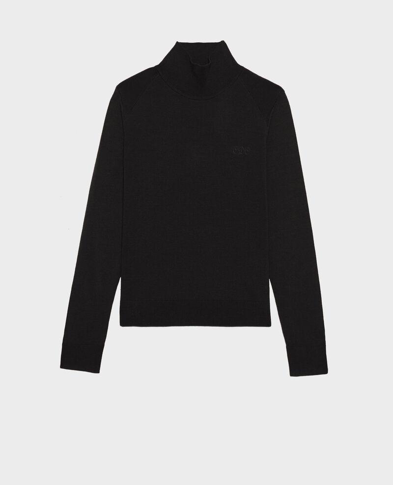 Turtleneck merino wool jumper Black beauty Malleville