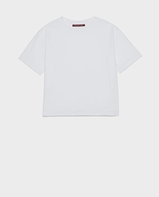 Oversize t-shirt OPTICAL WHITE