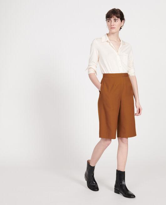Smooth wool bermuda shorts MONKS ROBE