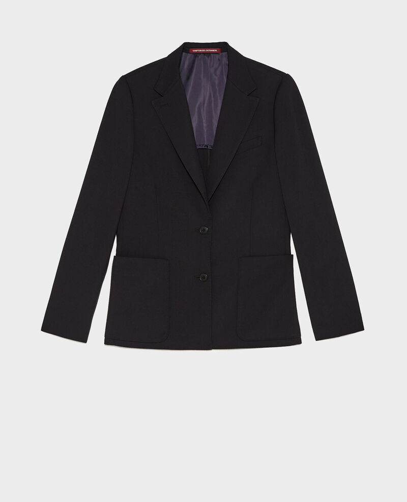 Fitted wool boyfriend blazer Black beauty Mesanger
