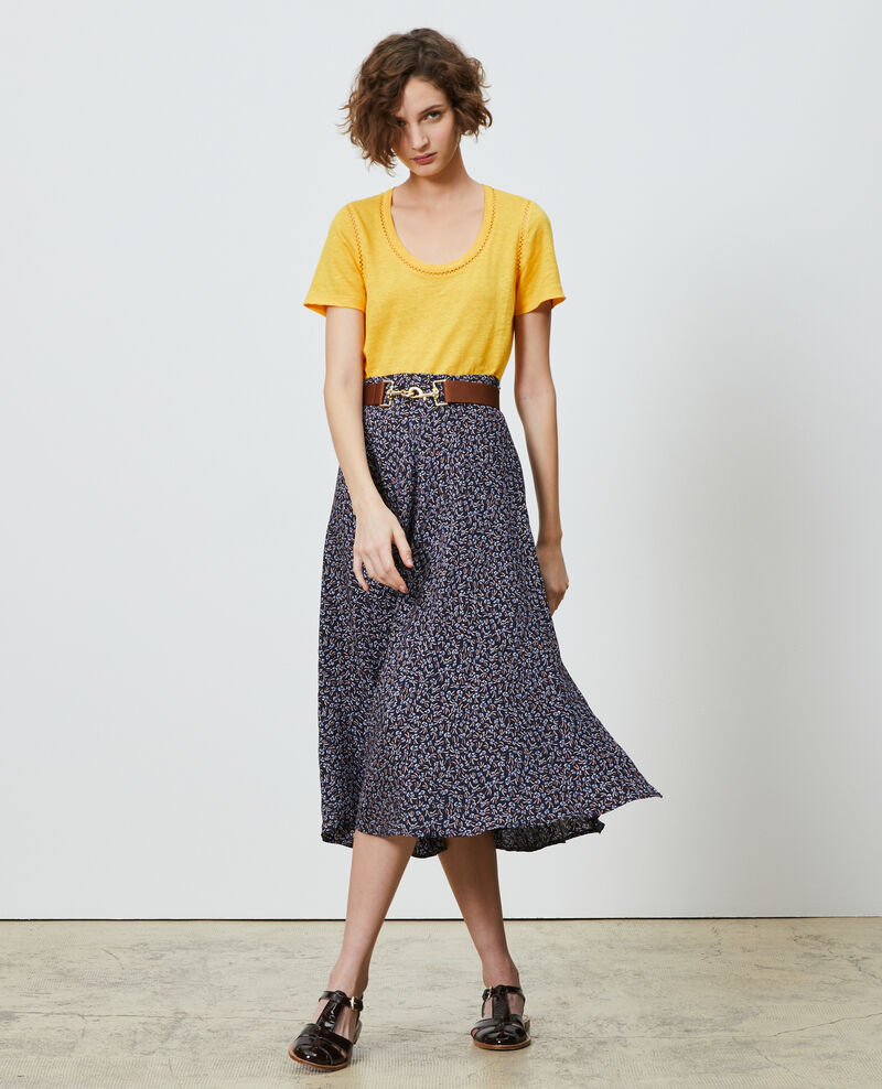 Linen T-shirt Spectra yellow Lye