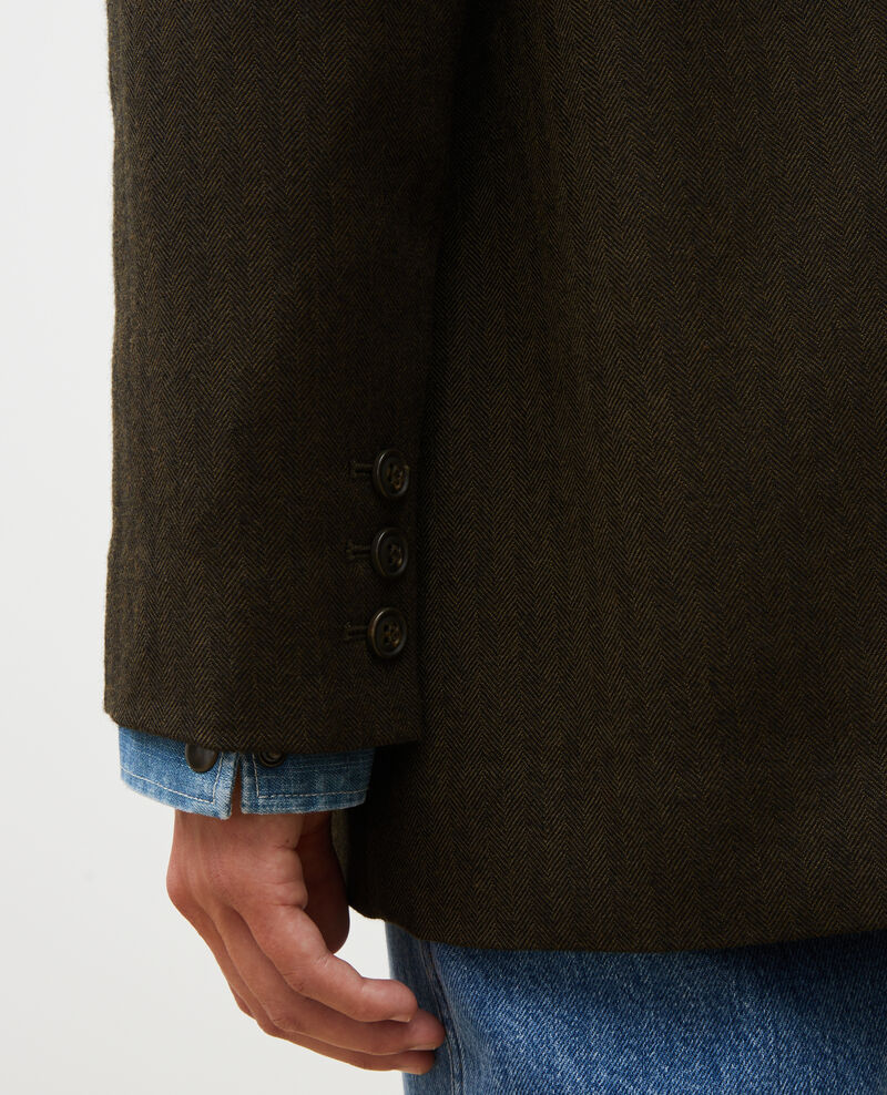2-button wool boyfriend blazer Military green Mably
