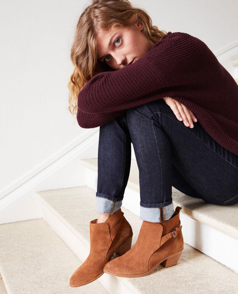 Suede Chelsea boots Camel Issentiel