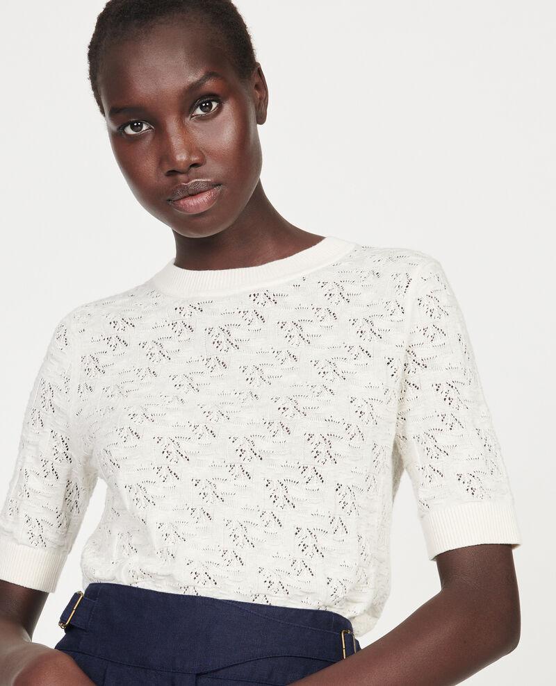 Rib knit t-shirt Buttercream Lagos