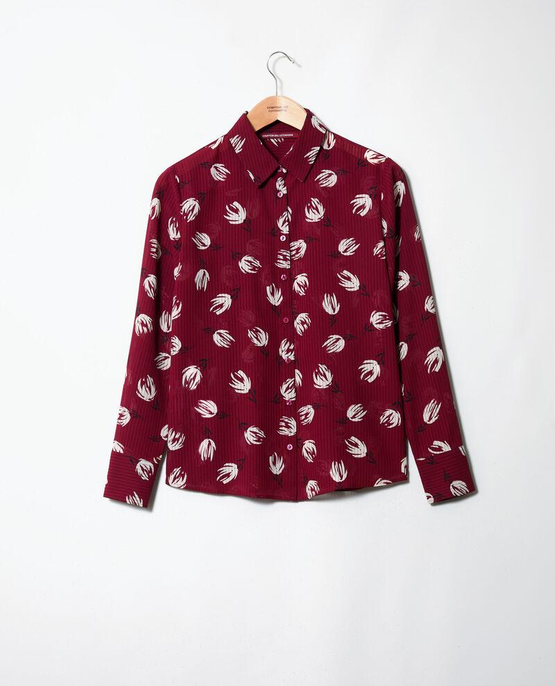 Printed shirt Tulip cabernet Jindia
