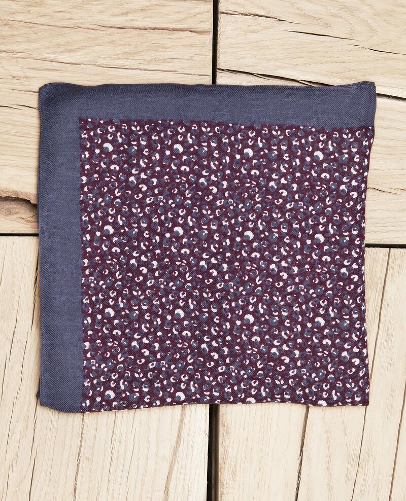 Leopard print scarf Potent purple Jeop