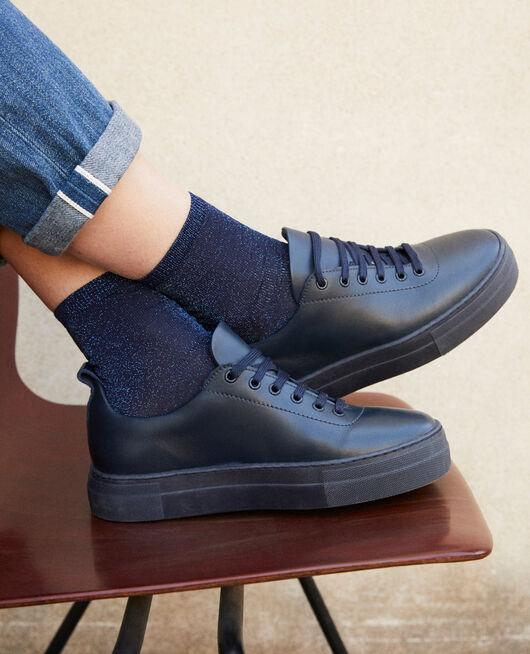 Lurex blend socks PEACOAT