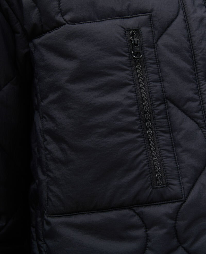 Oversize V-neck down jacket  Black beauty Matra