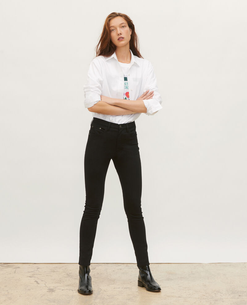 SKINNY - 5 pocket jeans Black beauty Mozakiny