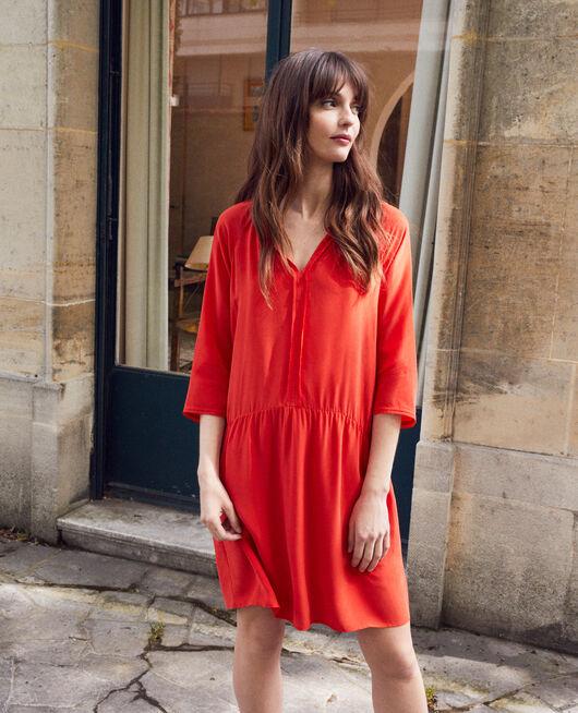 Silk blend dress MOLTEN LAVA