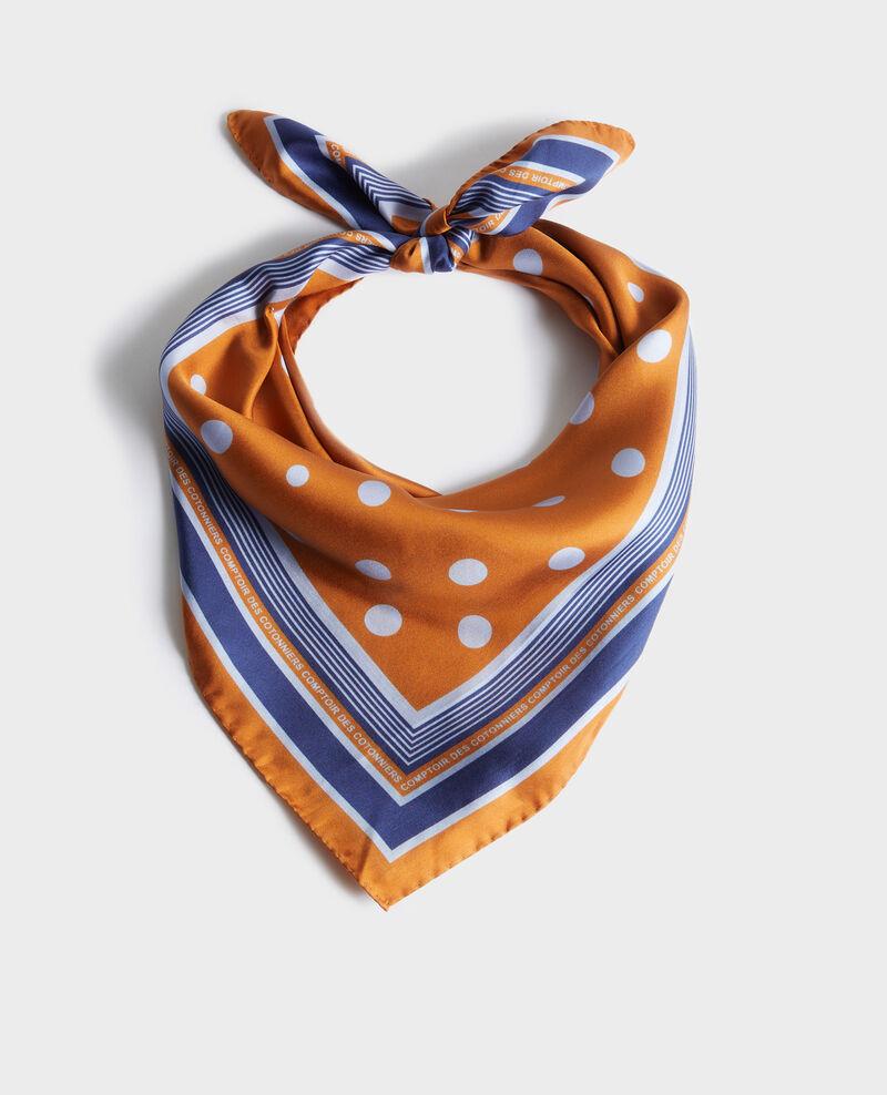 Polka dot square silk foulard Pumpkin spice Nois