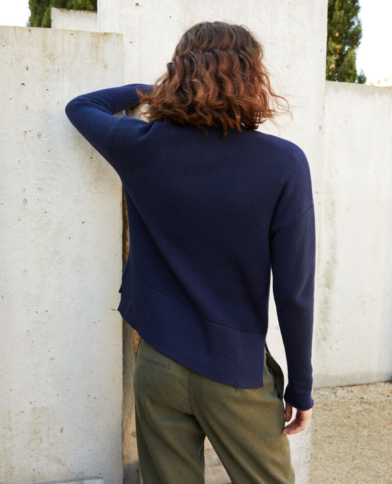 Zip-up cardigan Navy blazer Ifulie