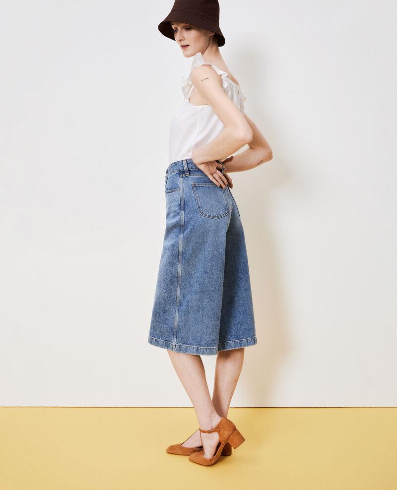 CULOTTE - jeans Vintage wash Nayage