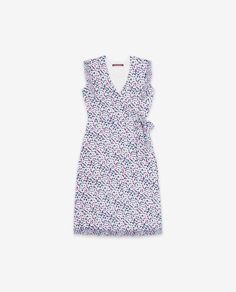 Printed silk wrap dress Bubbles peony Demoiselle