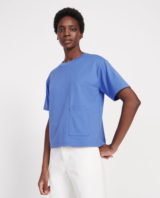 Mercerised cotton Oversize t-shirt PERSIAN JEWEL