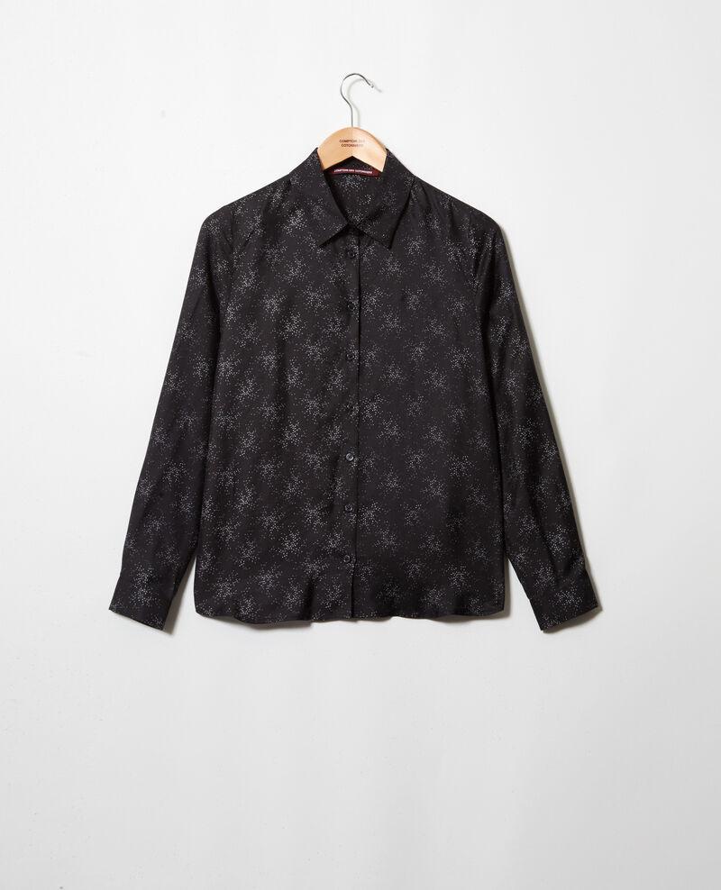 Straight-cut shirt Hurly burly noir Iclim