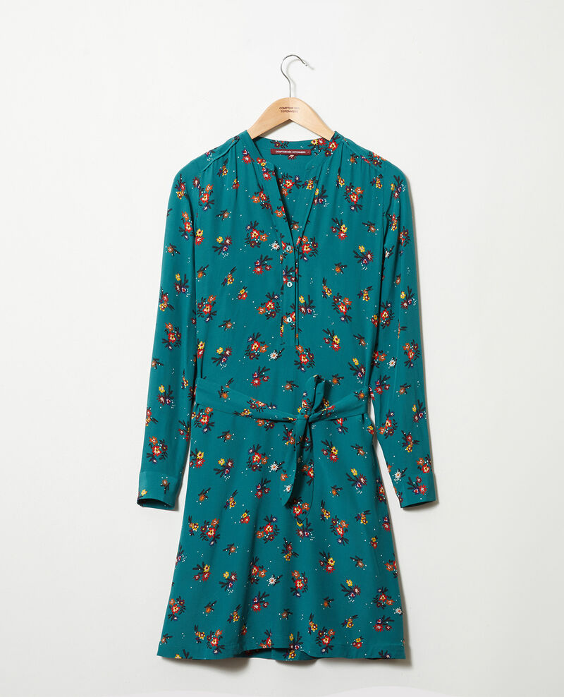 Shirt dress with belt Bouquet mediteranea Jarine