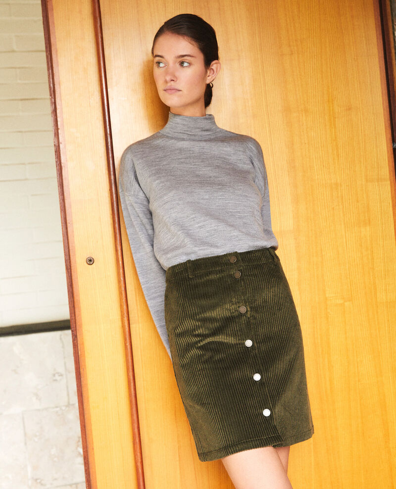 Ribbed corduroy skirt Olive night Gammon