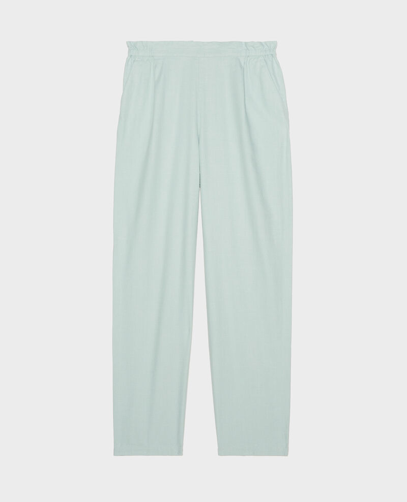 Linen and cotton trousers Blue haze Loranki