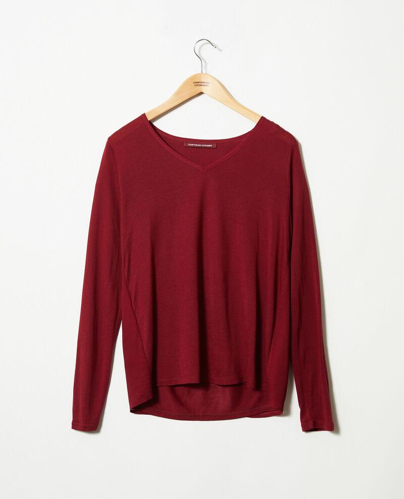 Bimaterial T-shirt Cabernet Janga
