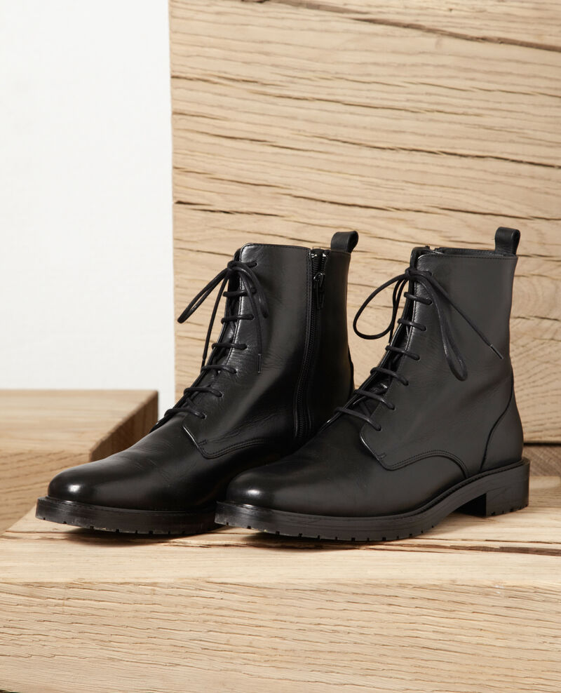Smooth leather boots Black Goots