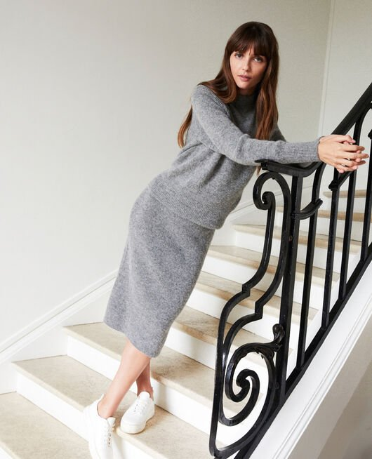Turtleneck jumper MIDDLE GREY