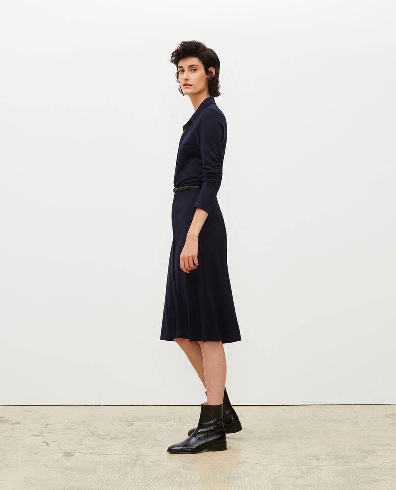 Silk jersey shirt dress Maritime blue Lulia