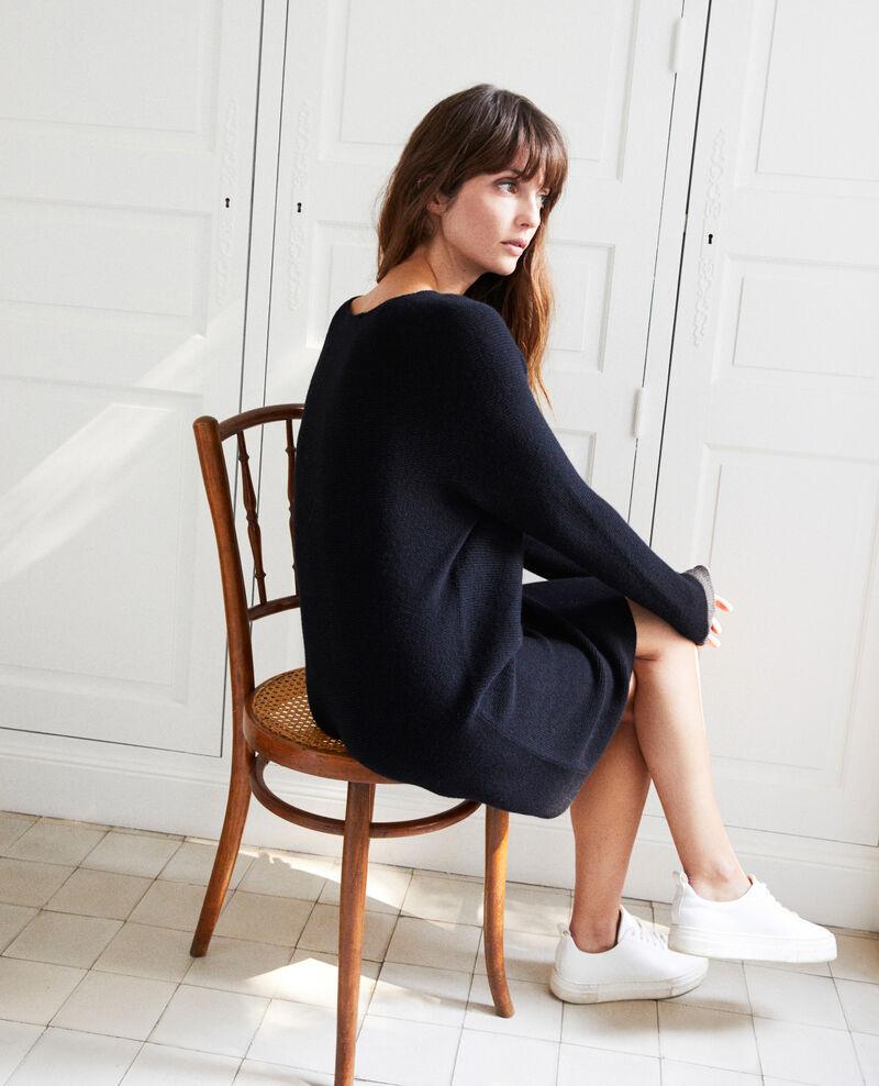 3D knit jumper dress 100% cashmere Noir Joceline