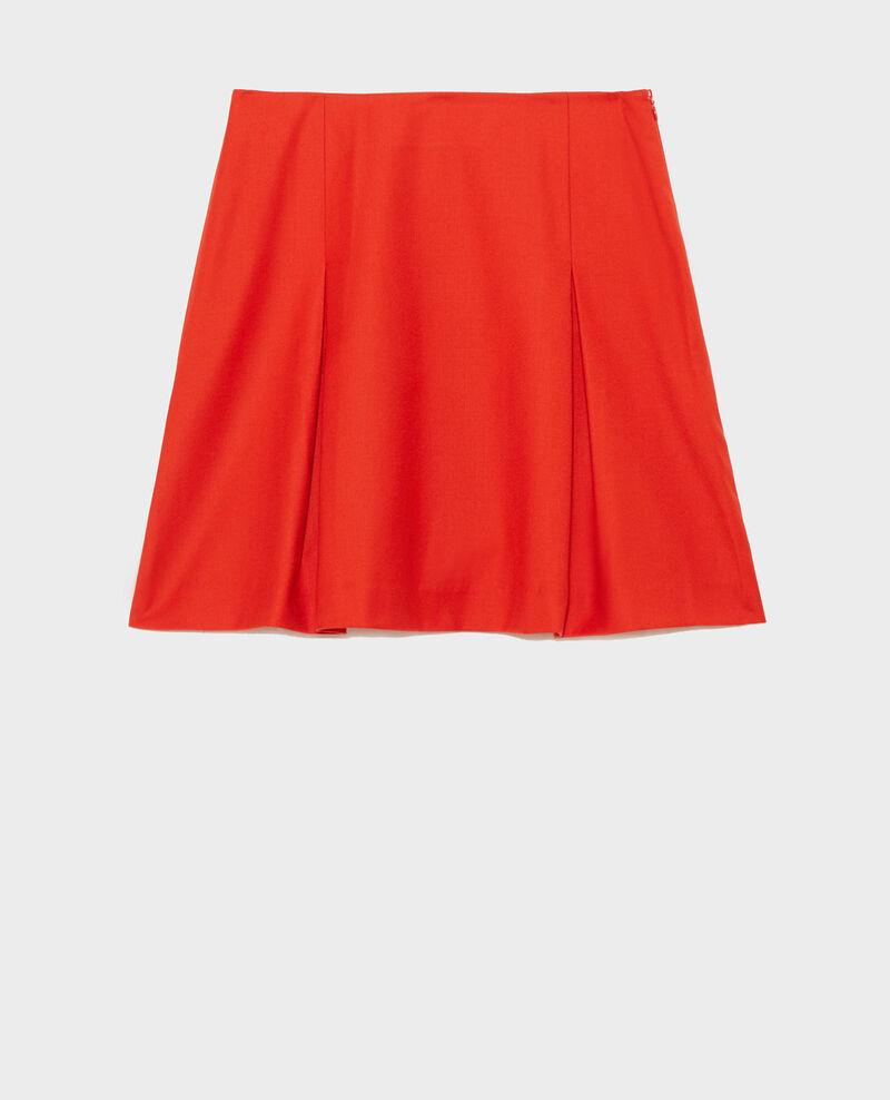 Wool flannel A-line mini skirt Valiant poppy Marcoles