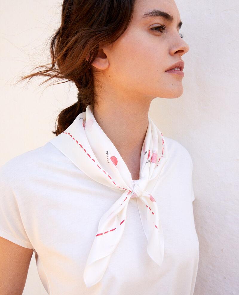 Silk scarf Coeur rouge Inder