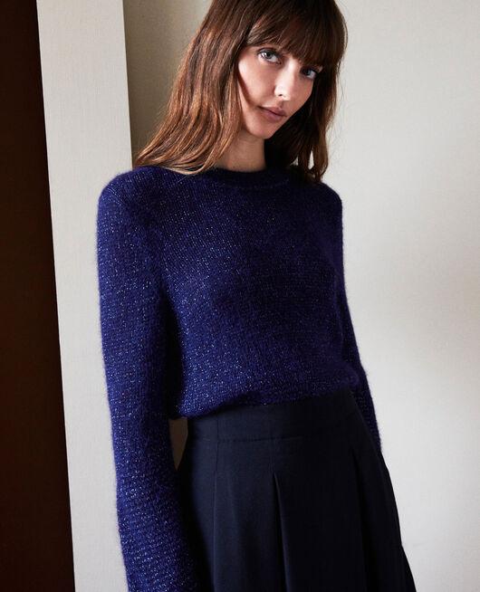 Novelty knit jumper EVENING BLUE