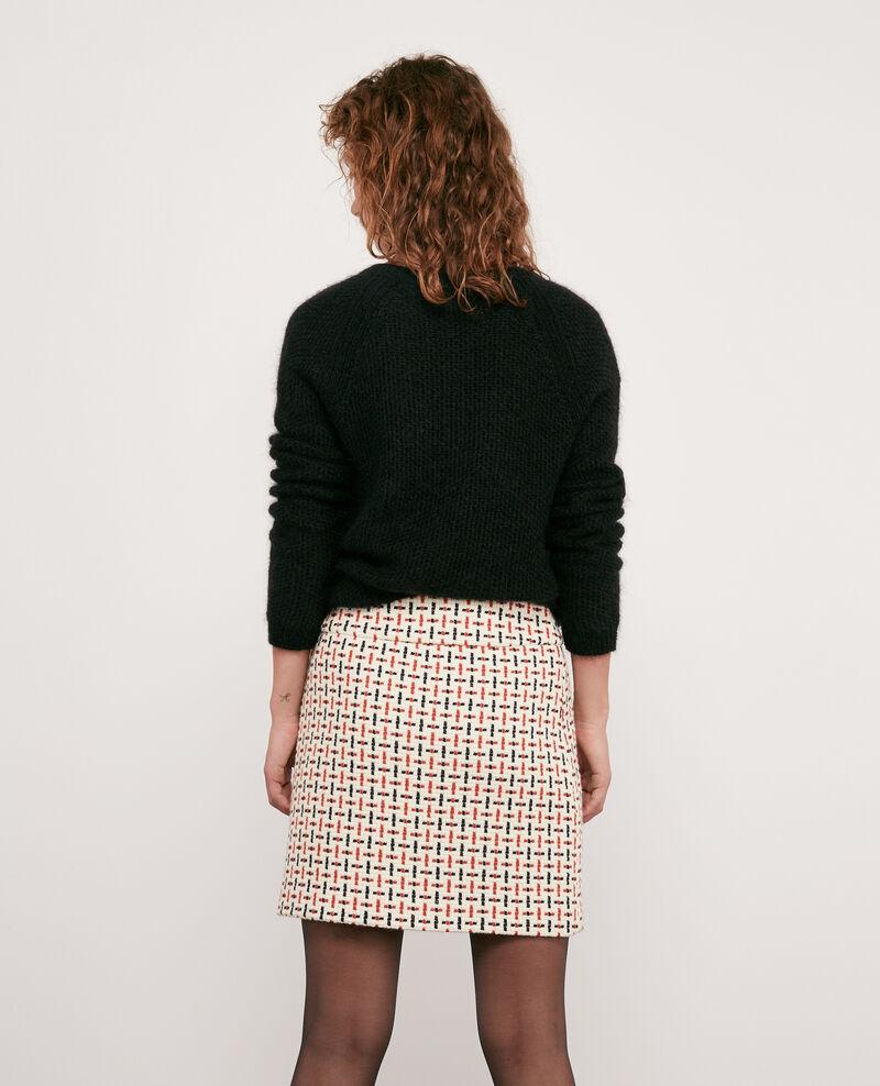 Wool blend tweed skirt Off white Dastel