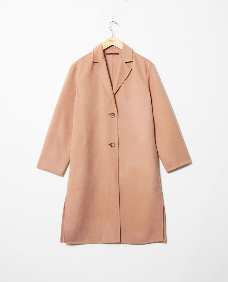 Double-sided coat Caramel beige Irelie