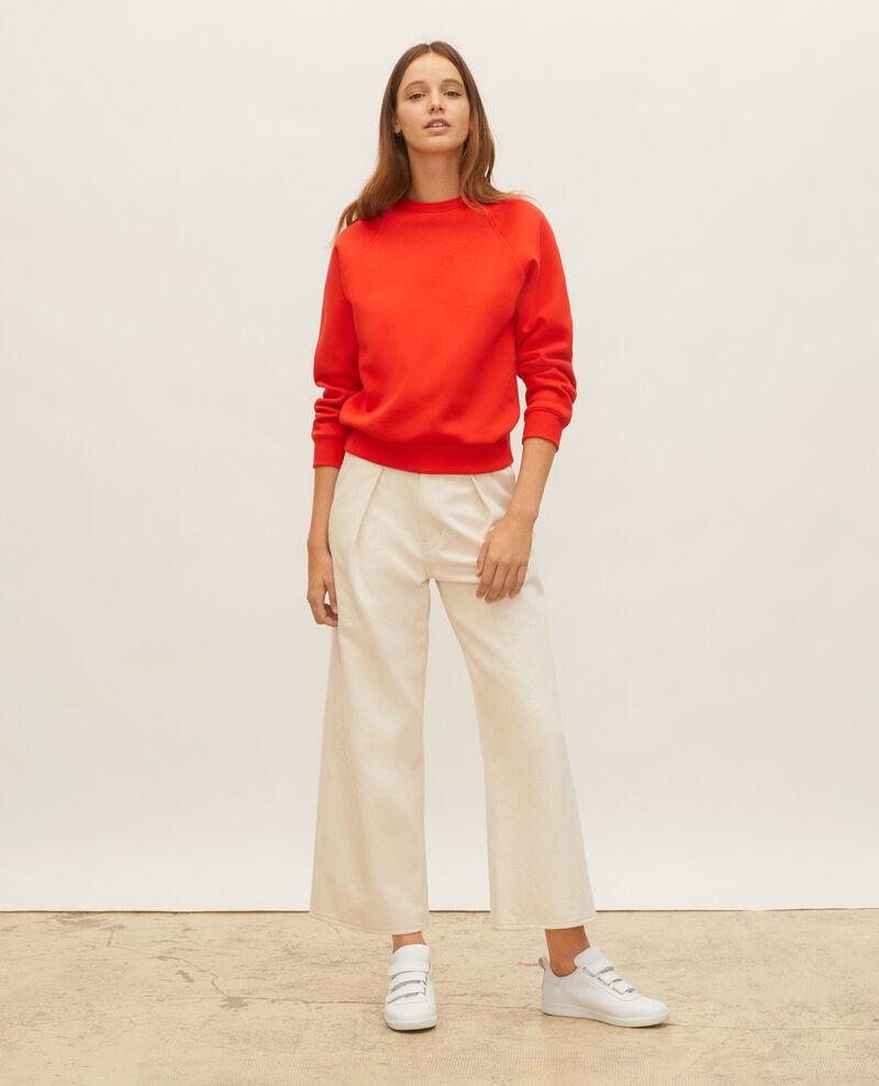 Fleece sweatshirt Fiery red Lison