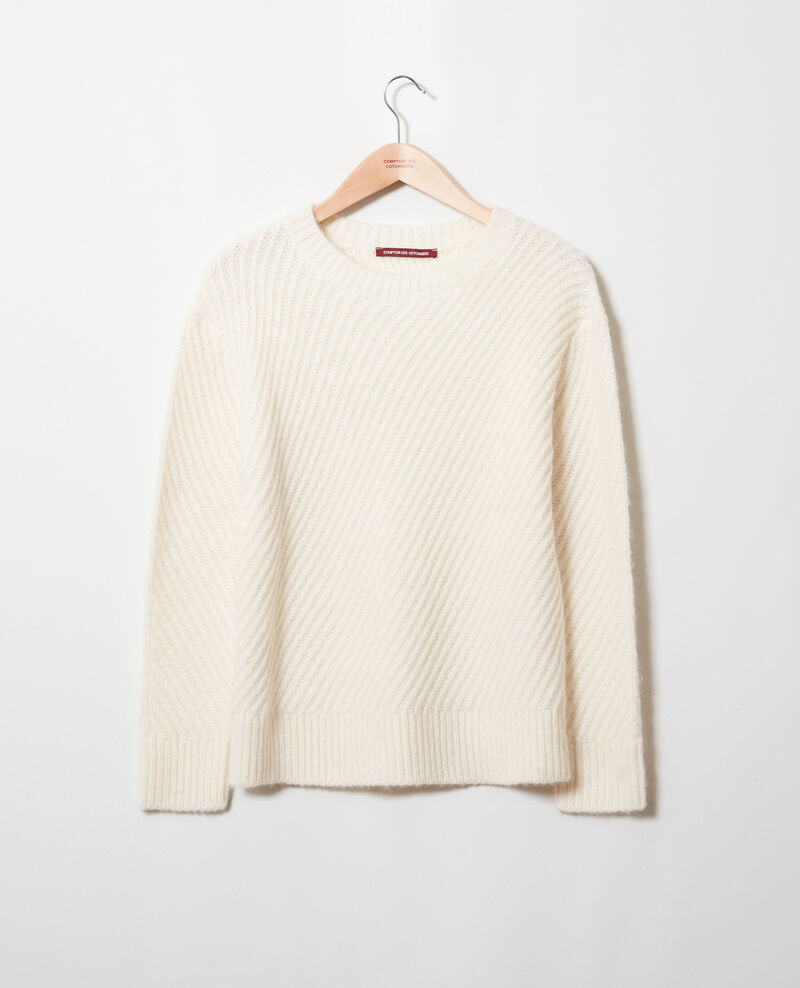 Rib knit jumper Off white Josue
