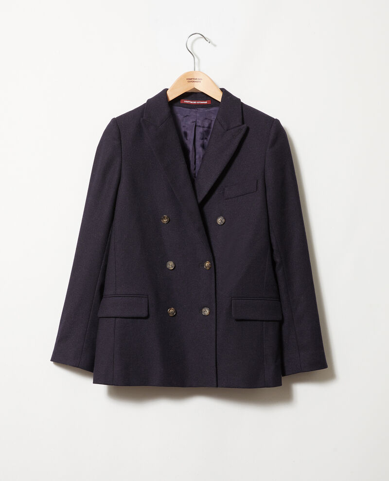 Wool blend blazer Dark navy Jermain